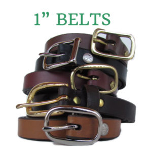 Solid Leather Belts 1""