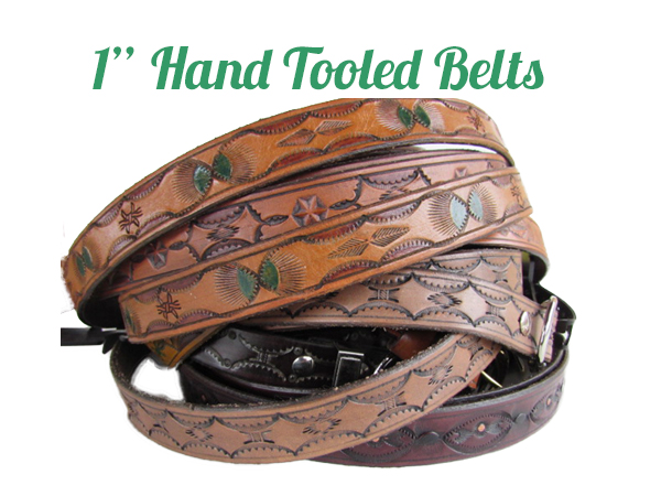 Hand tooled Leather Belts 1""