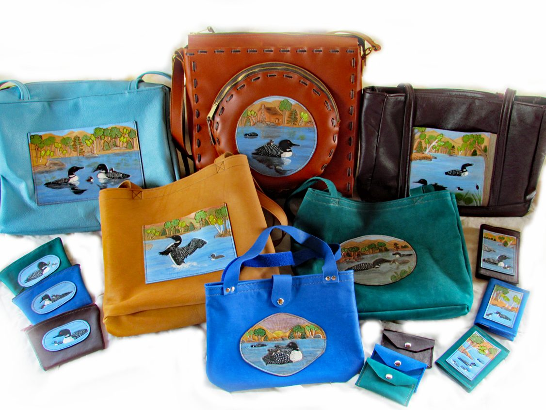 Loon leather tote collection