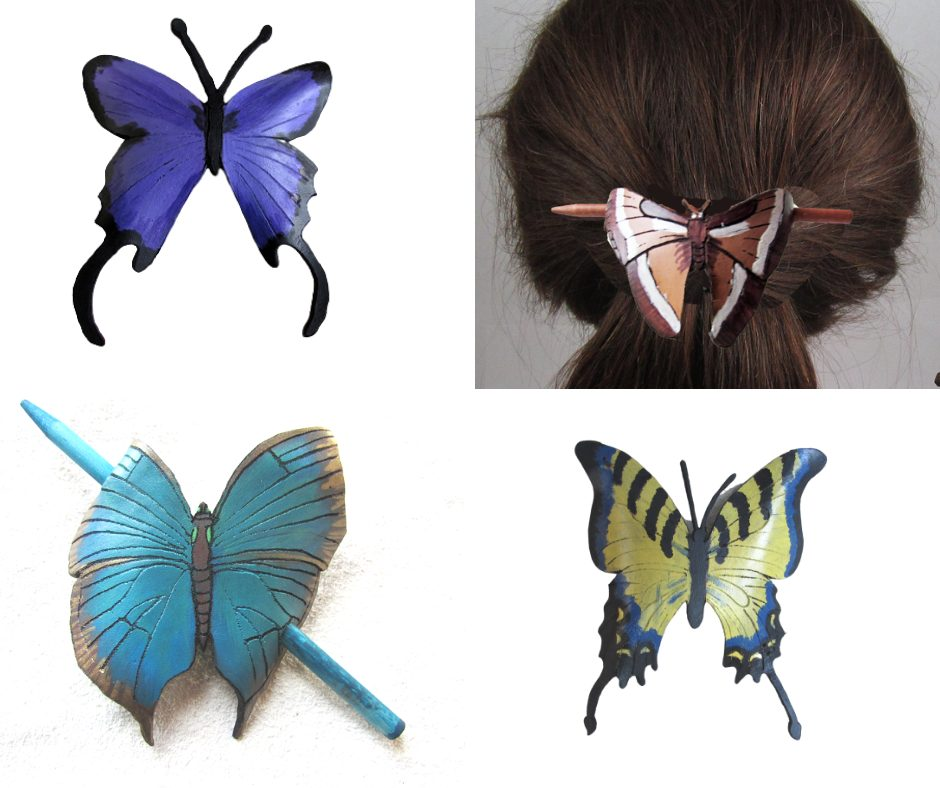 leather-butterfly-barettes