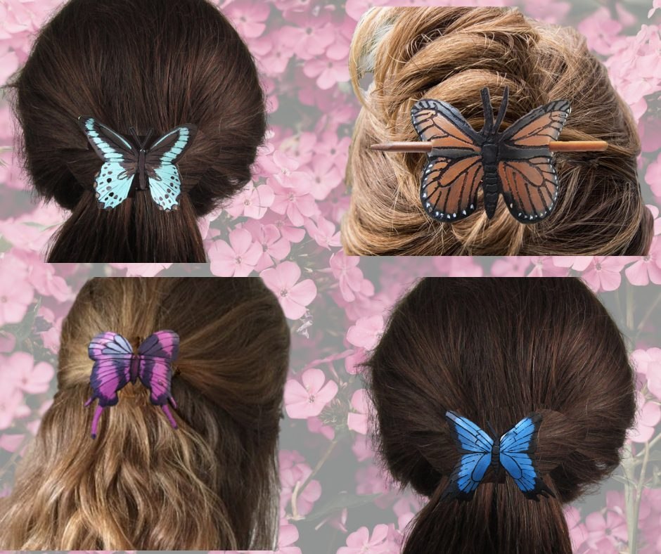 leather-butterfly-barrettes