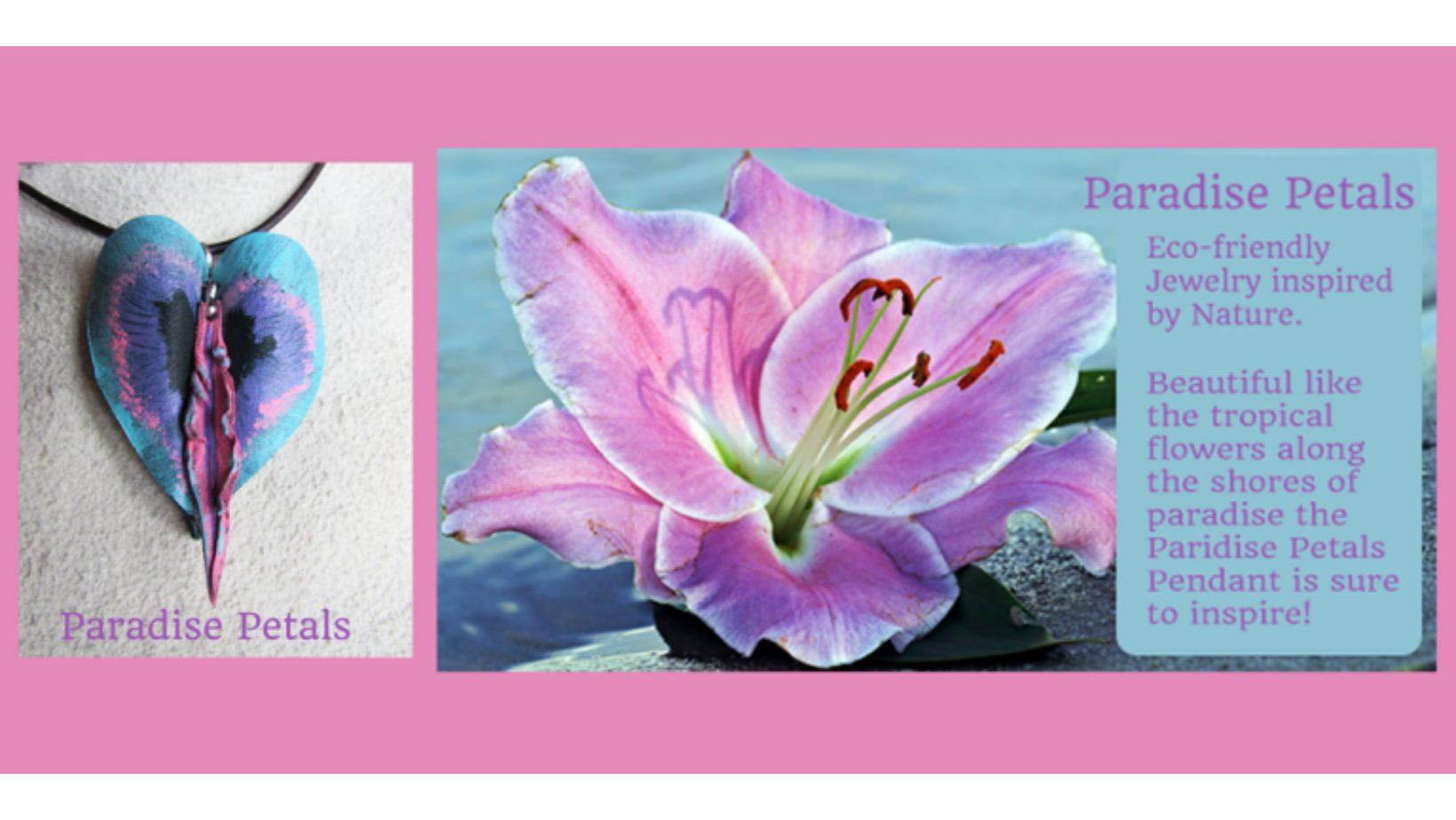 Paradise Petals heart Pendant