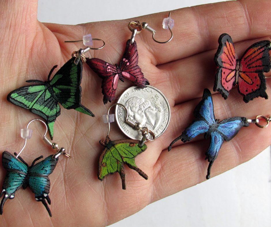 mini wings earrings
