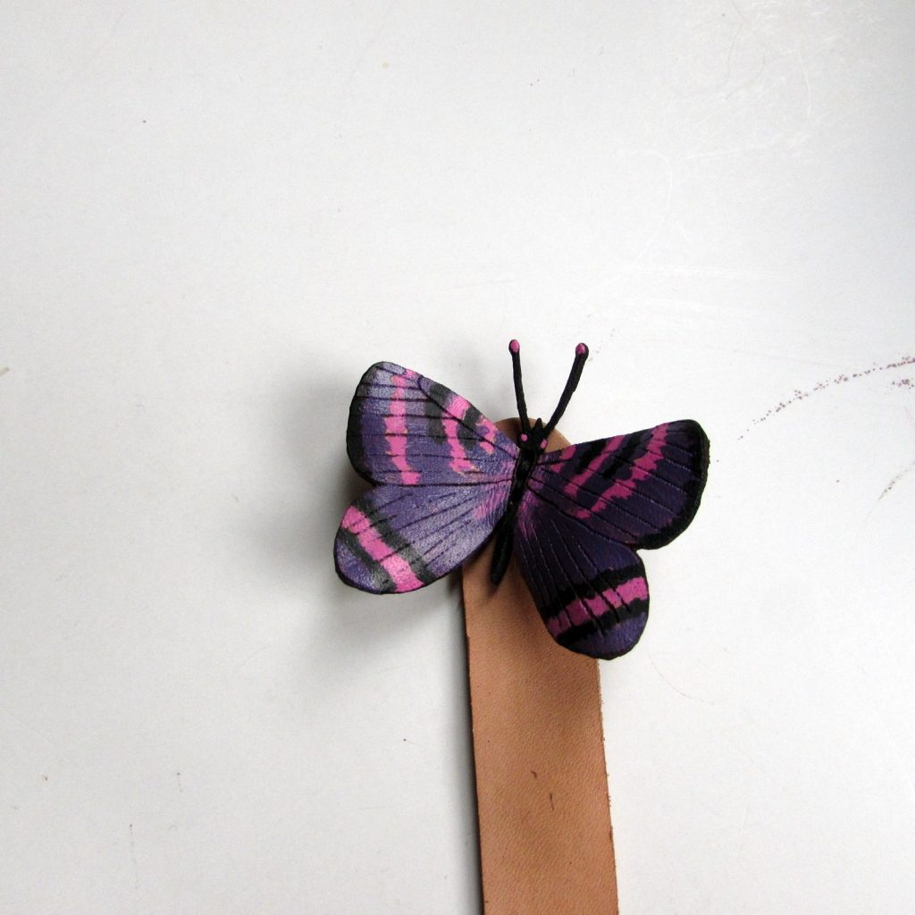 violet-copper-butterfly-bookmark